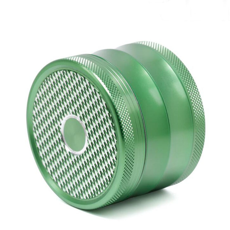 Wholesale price new diamond 4piece gold green black herb grinders for weed